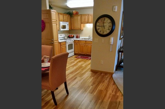Faux Wood Grain Flooring at Highlands at Wildwood Highlands Apartments & Townhomes 55+, Menomonee Falls, WI,53051