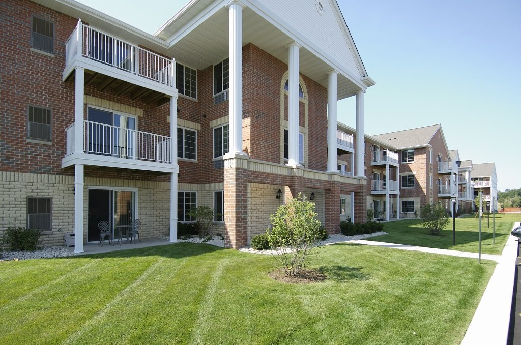 Beautiful Landscaping and Park-like Setting at Wildwood Highlands Apartments & Townhomes 55+, Menomonee Falls, WI,53051