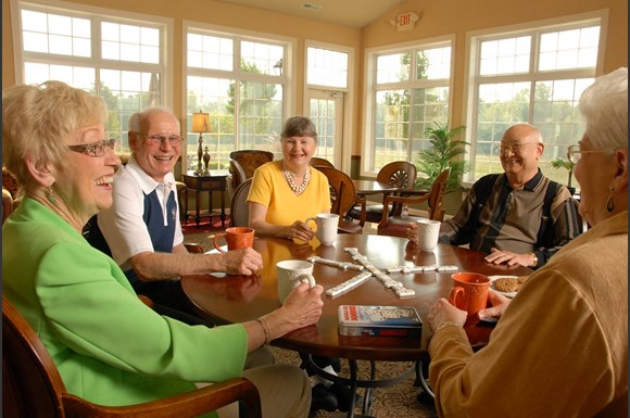 Frequent Resident Gatherings at Wildwood Highlands Apartments & Townhomes 55+, Menomonee Falls, WI,53051
