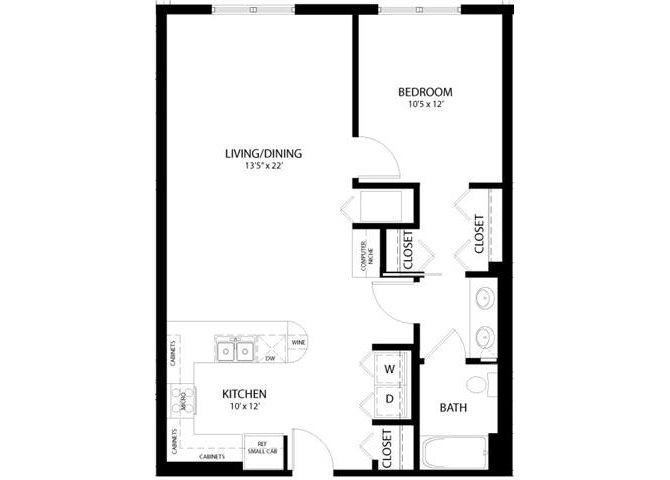 1 Bedroom C Floor Plan 5