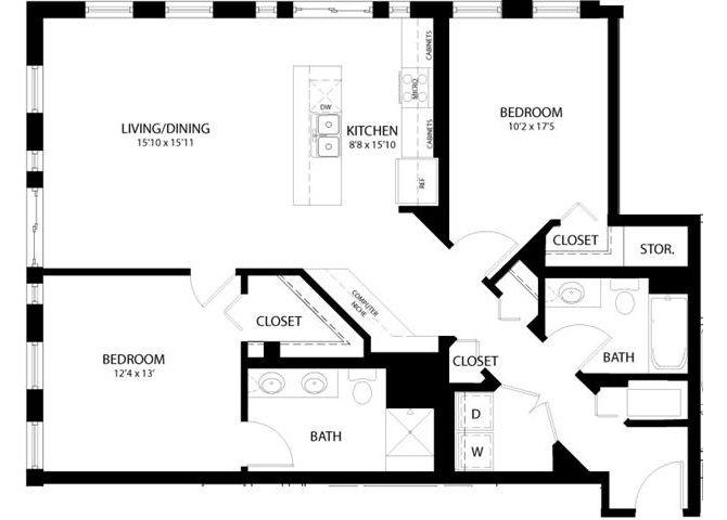 2 Bedroom A Floor Plan 7