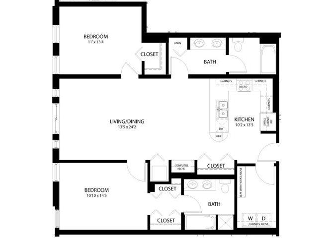 2 Bedroom C Floor Plan 9