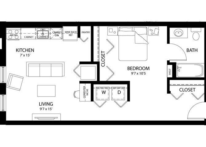 Studio B Floor Plan 2