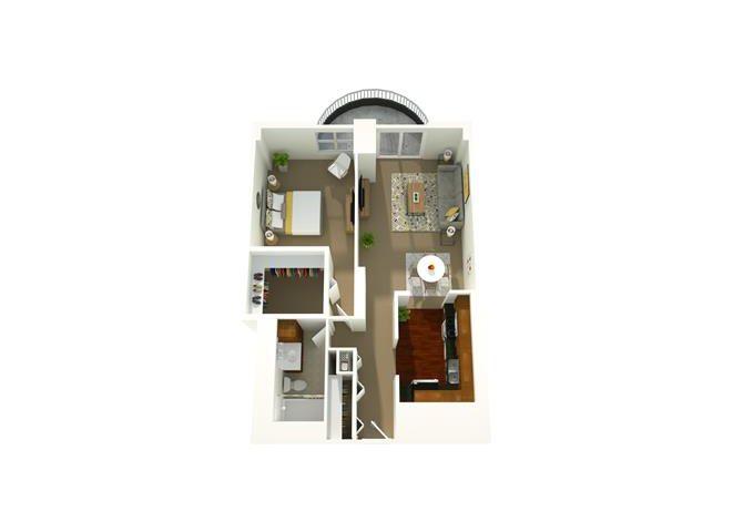 1 Bedroom 03 Floor Plan 4