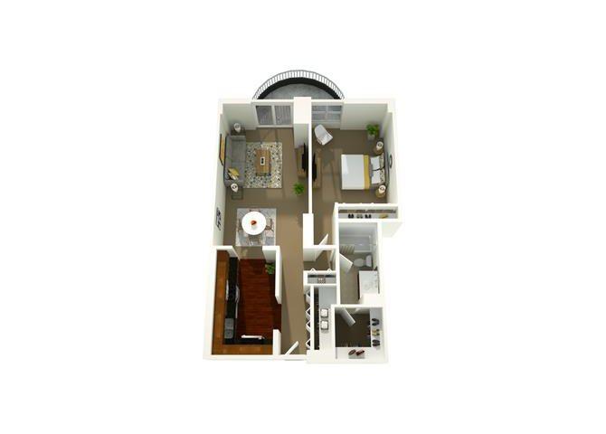 1 Bedroom 04 Floor Plan 5