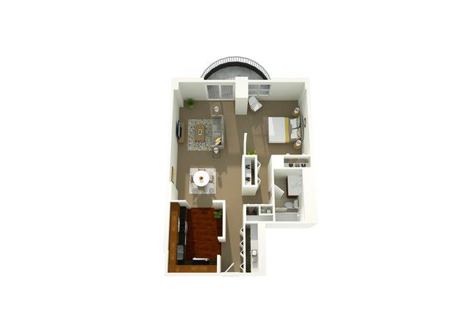 1 Bedroom 05 Floor Plan 1