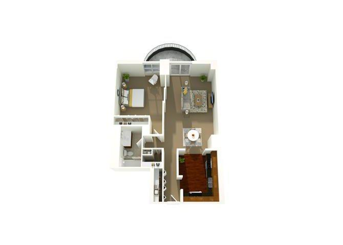 1 Bedroom 06 Floor Plan 2