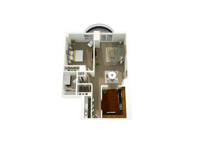 1 Bedroom 07 Floor Plan 6