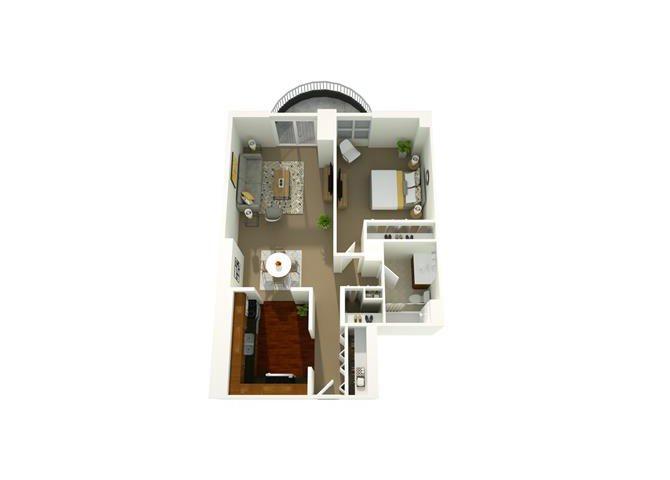 1 Bedroom 08 Floor Plan 7