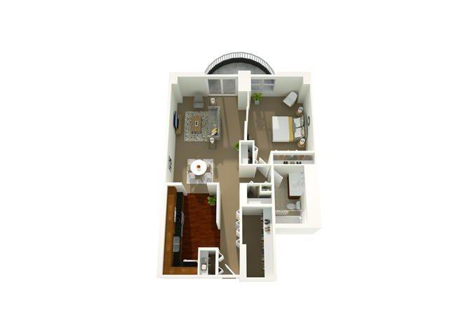 1 Bedroom 09 Floor Plan 3