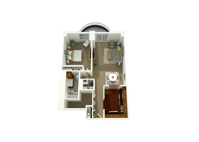 1 Bedroom 10 Floor Plan 8