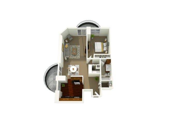 1 Bedroom 12 Floor Plan 10