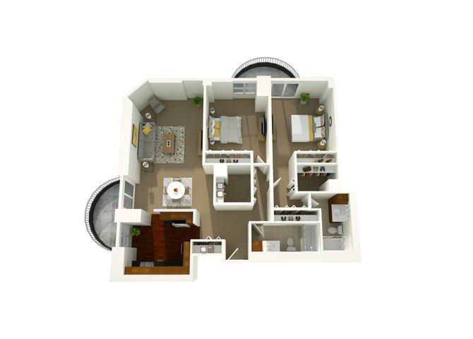 2 Bedroom 01 Floor Plan 11