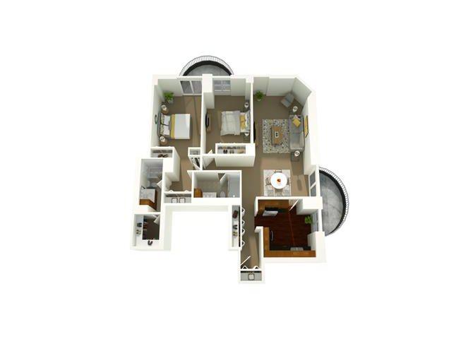 2 Bedroom 02 Floor Plan 12