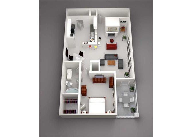 Bighorn w/Bed Ext Floor Plan 7