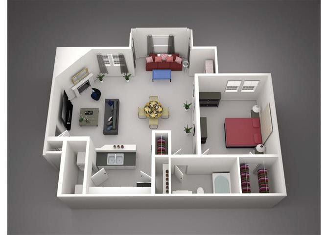 Sequoia w/Living Ext Floor Plan 3
