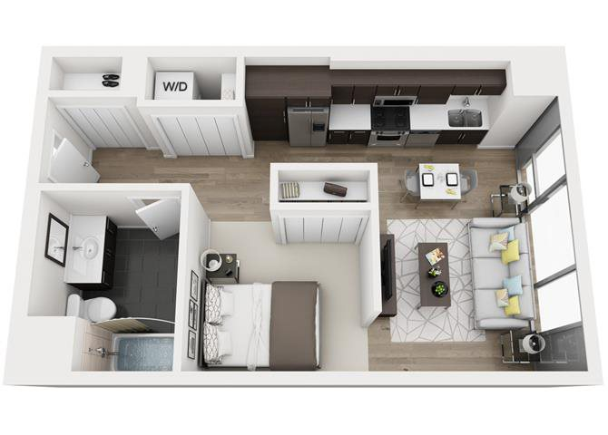 Floor plans of halsted flats in chicago il - One bedroom apartments in chicago il ...