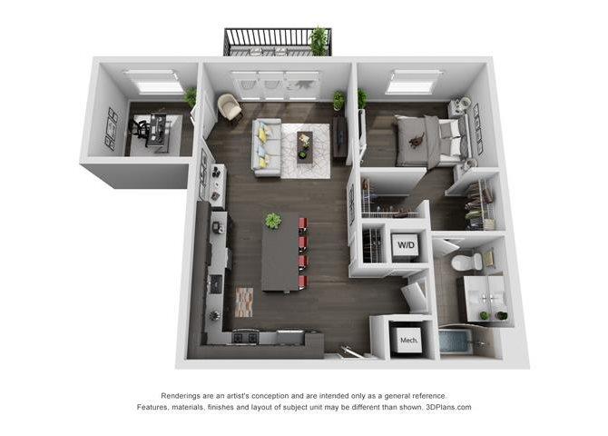 1D Floor Plan 6