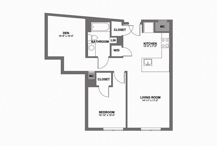 One Bedroom w/ Den