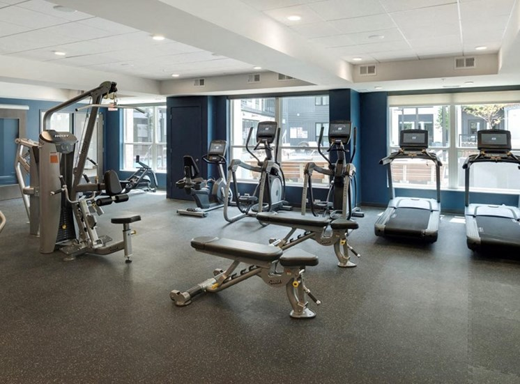 Fully Equipped Fitness Center Residences at 1700 Fitness Center Yoga Studio