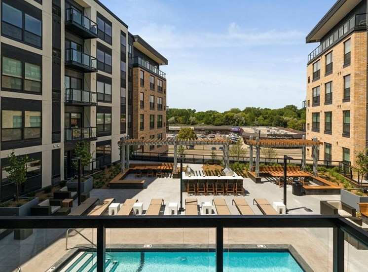 Private Apartment Balcony Residences at 1700 Outdoor Pool Sun Deck