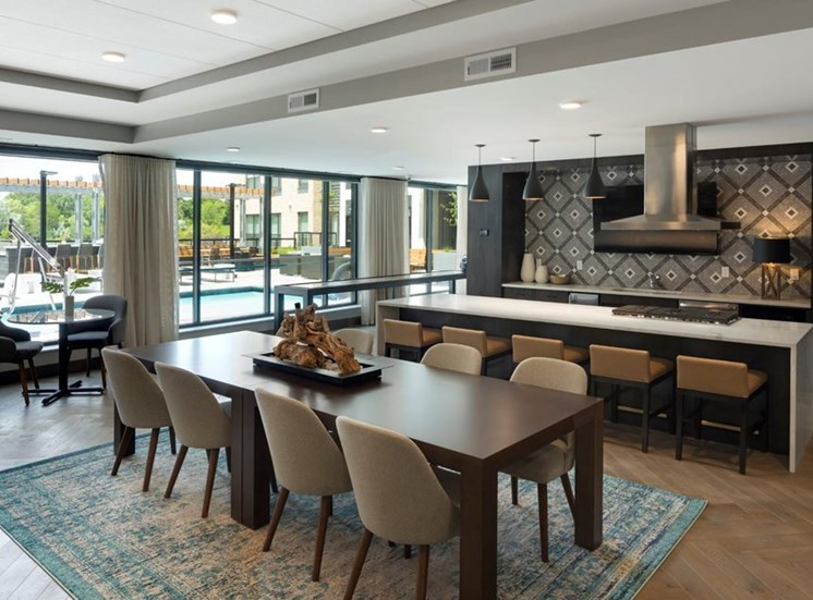 Well Equipped Kitchen And Dining Residences at 1700 Community Room