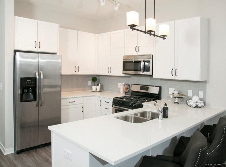 Efficient Appliances In Kitchen Residences at 1700 Model Kitchen