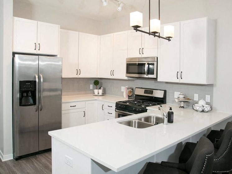 Residences at 1700 Model Kitchen