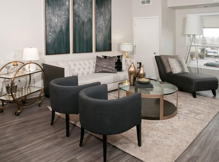 Expansive Living Room Residences at 1700 Living Community Room