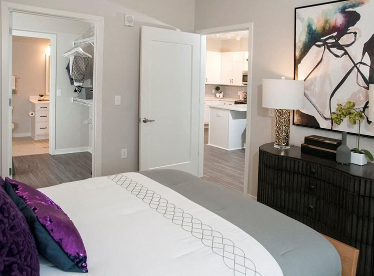 Well Appointed Bedroom Residences at 1700 Model Bedroom