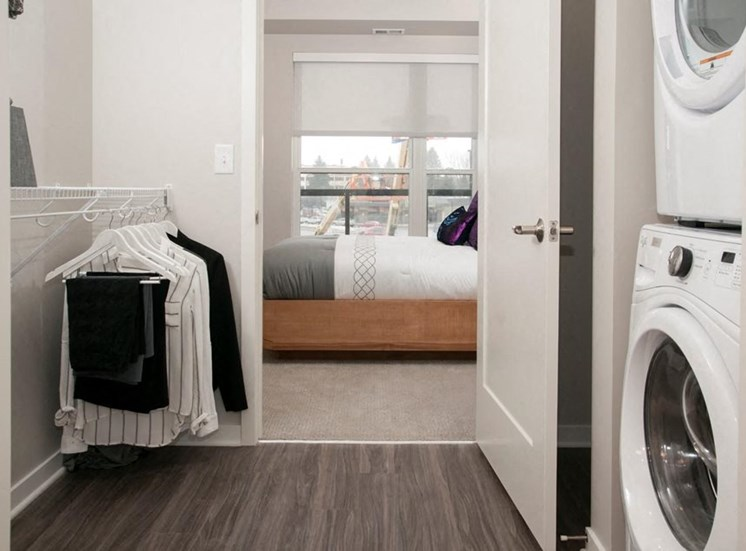 In Home Full Size Washer And Dryer Residences at 1700 Model Bathroom Bedroom