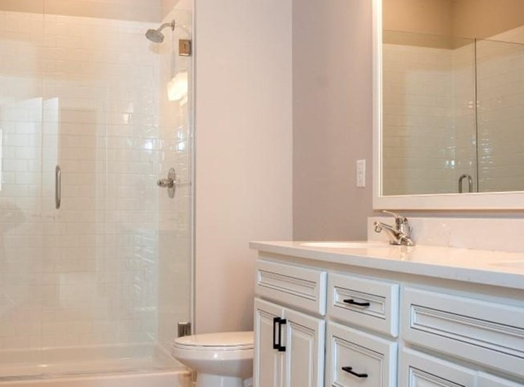 Renovated Bathrooms With Quartz Counters Residences at 1700 Vacant Bathroom