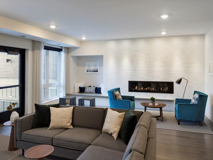 Community Lounge at The M On Hennepin Apartments in Minneapolis, MN