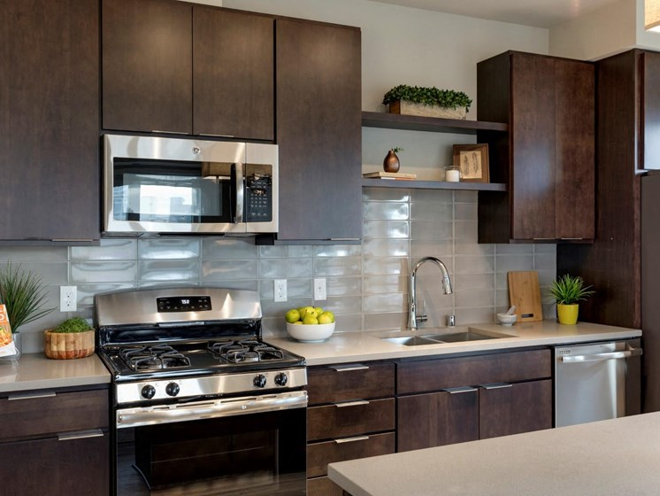 Fully-Equipped Kitchen at The M on Hennepin in Minneapolis, MN