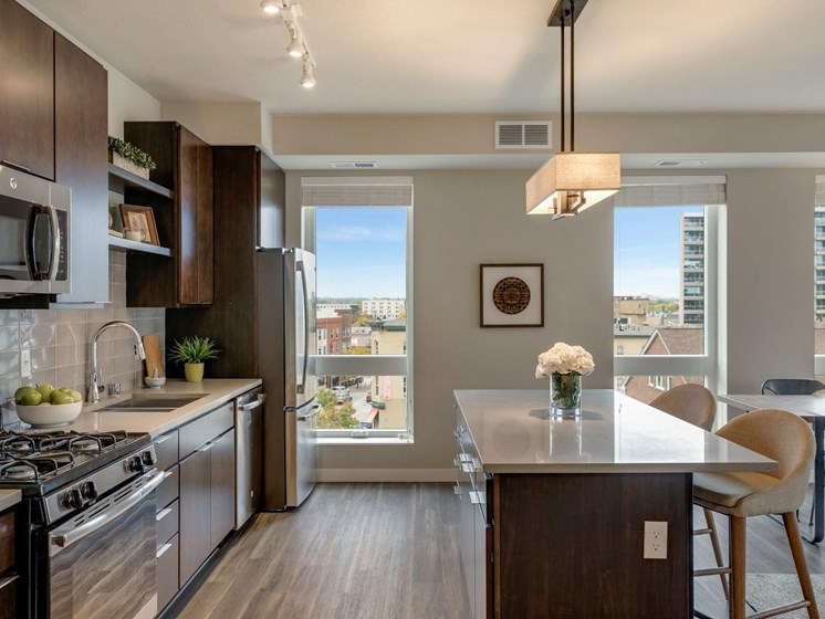 Kitchen With Views at The M on Hennepin in Minneapolis, MN