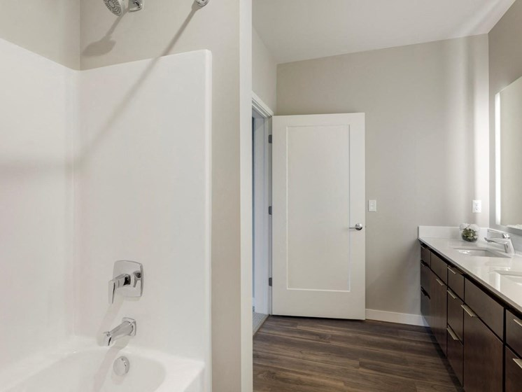 Bathroom With Shower at The M on Hennepin in Minneapolis, MN