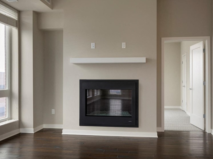 Fire Place With Mantel at The M on Hennepin in Minneapolis, MN