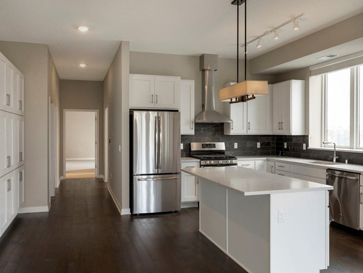 Fully-Equipped Kitchen With Modern Design at The M on Hennepin in Minneapolis, MN