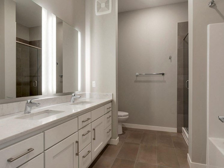 Bathroom With White Detailing at The M on Hennepin in Minneapolis, MN