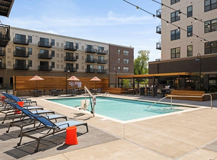 Upscale Lap and Lounge Swimming Pools at The Shoreham, St. Louis Park, MN