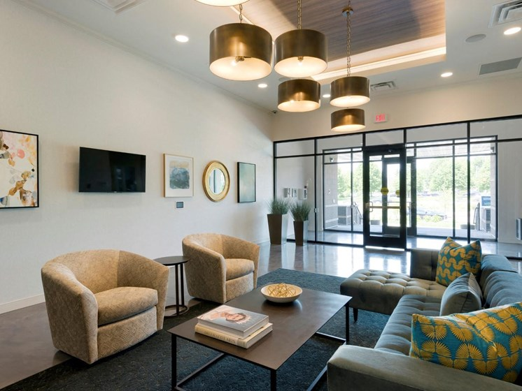 Stylish Lobby at The Shoreham, St. Louis Park