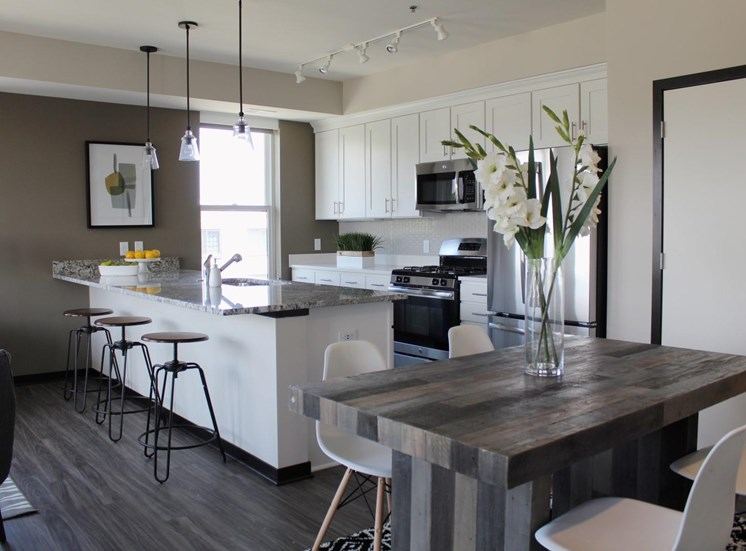 Chef Inspired Kitchen Islands at The Shoreham, St. Louis Park, Minnesota