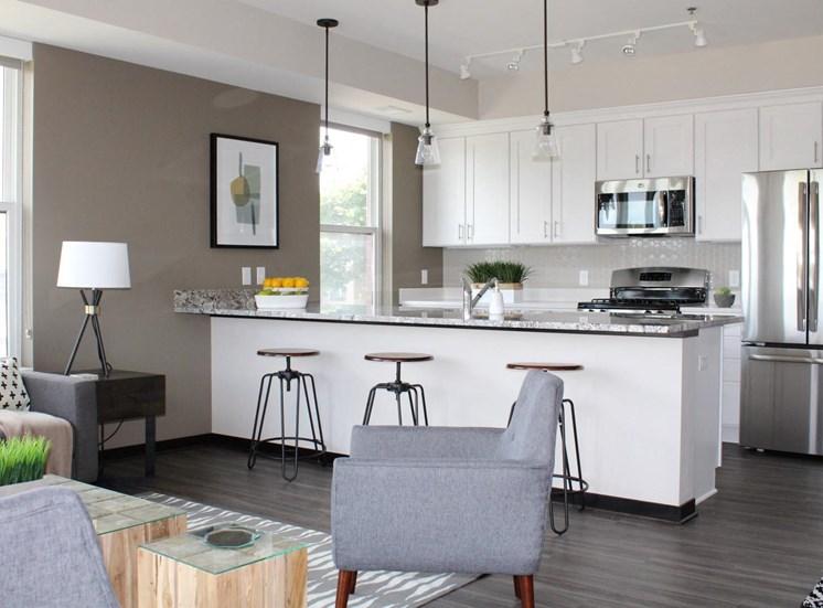 White Cabinetry at The Shoreham, Minnesota, 55416