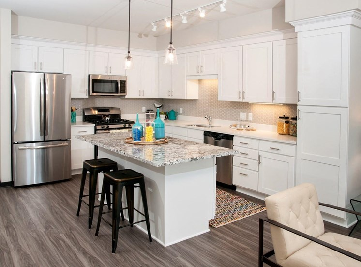 Designer Kitchen Cabinets with Soft Close at The Shoreham, St. Louis Park