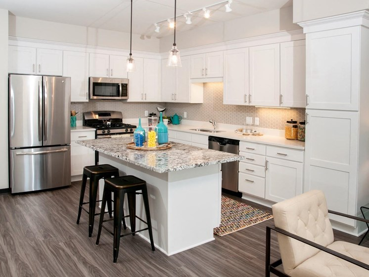 Designer Kitchen Cabinets with Soft Close at The Shoreham, St. Louis Park