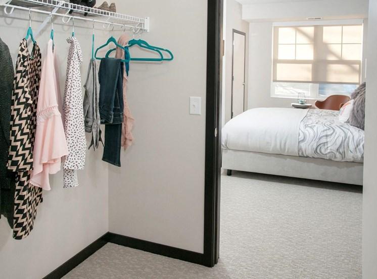 Roomy Closet at The Shoreham, St. Louis Park, Minnesota