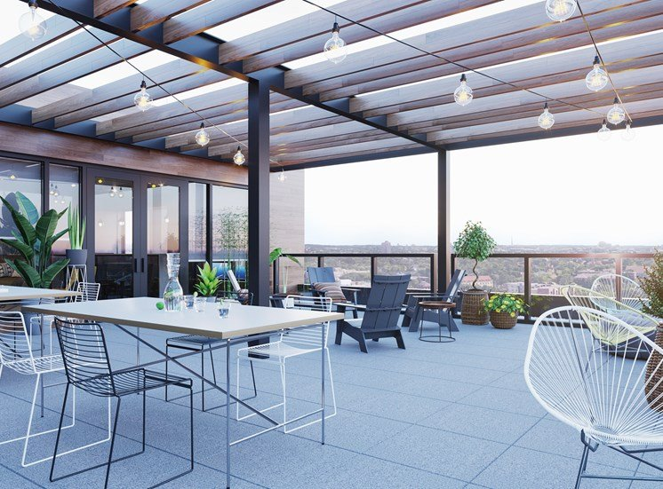 Amazing Rooftop Sky Deck at Mezzo Apartments in Northeast Minneapolis