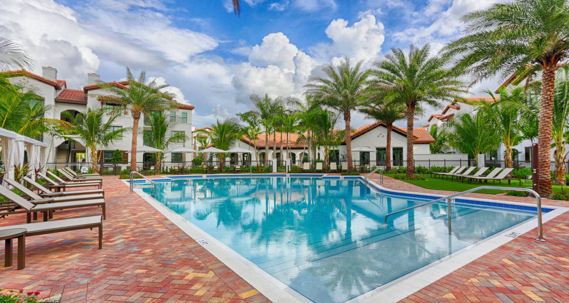 Resort-Style Zero-Entry Pool at Mirador at Doral by Windsor, Florida, 33122