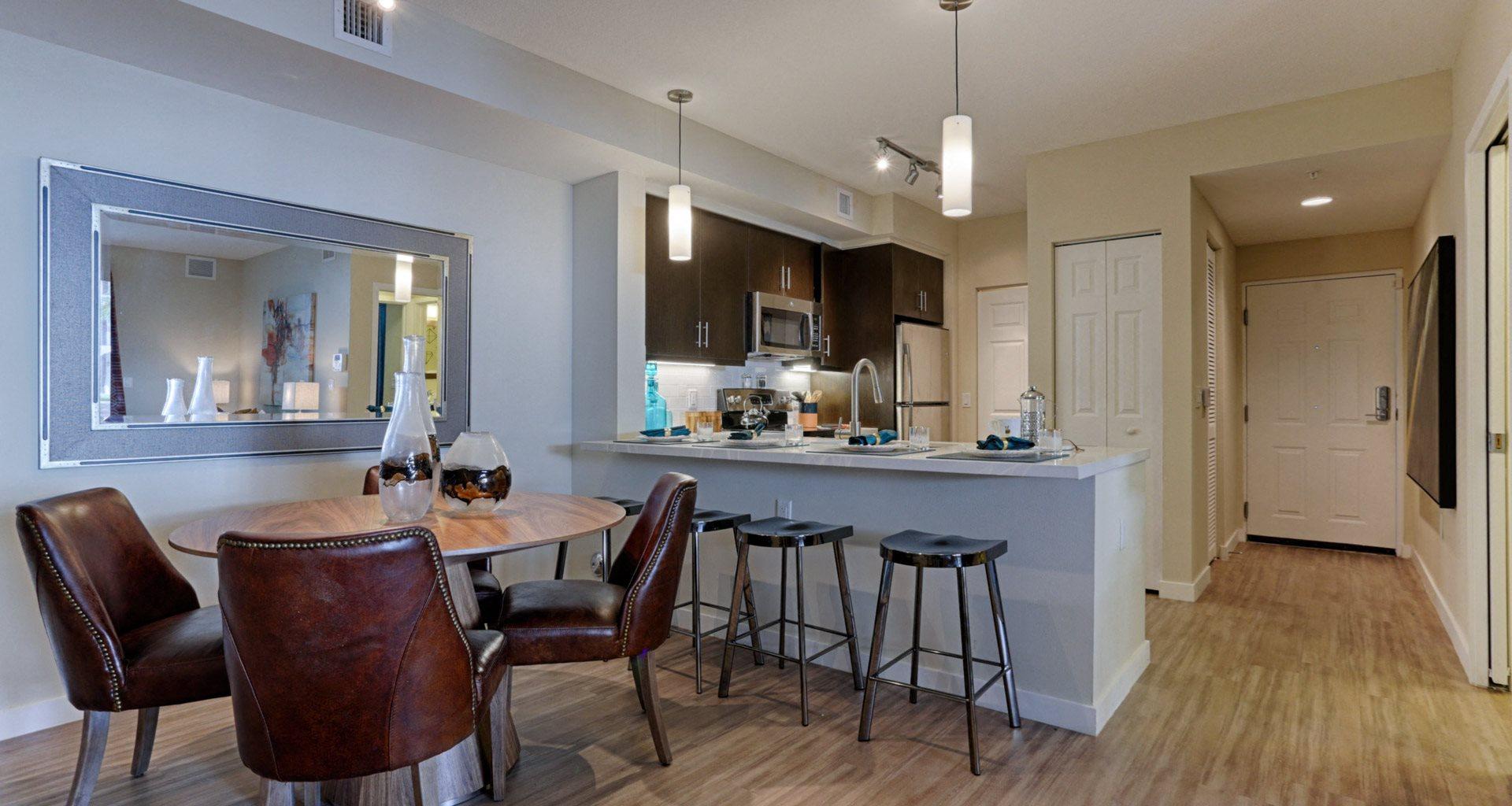 Kitchen With Breakfast Bar At Mirador Doral By Windsor FL 33122