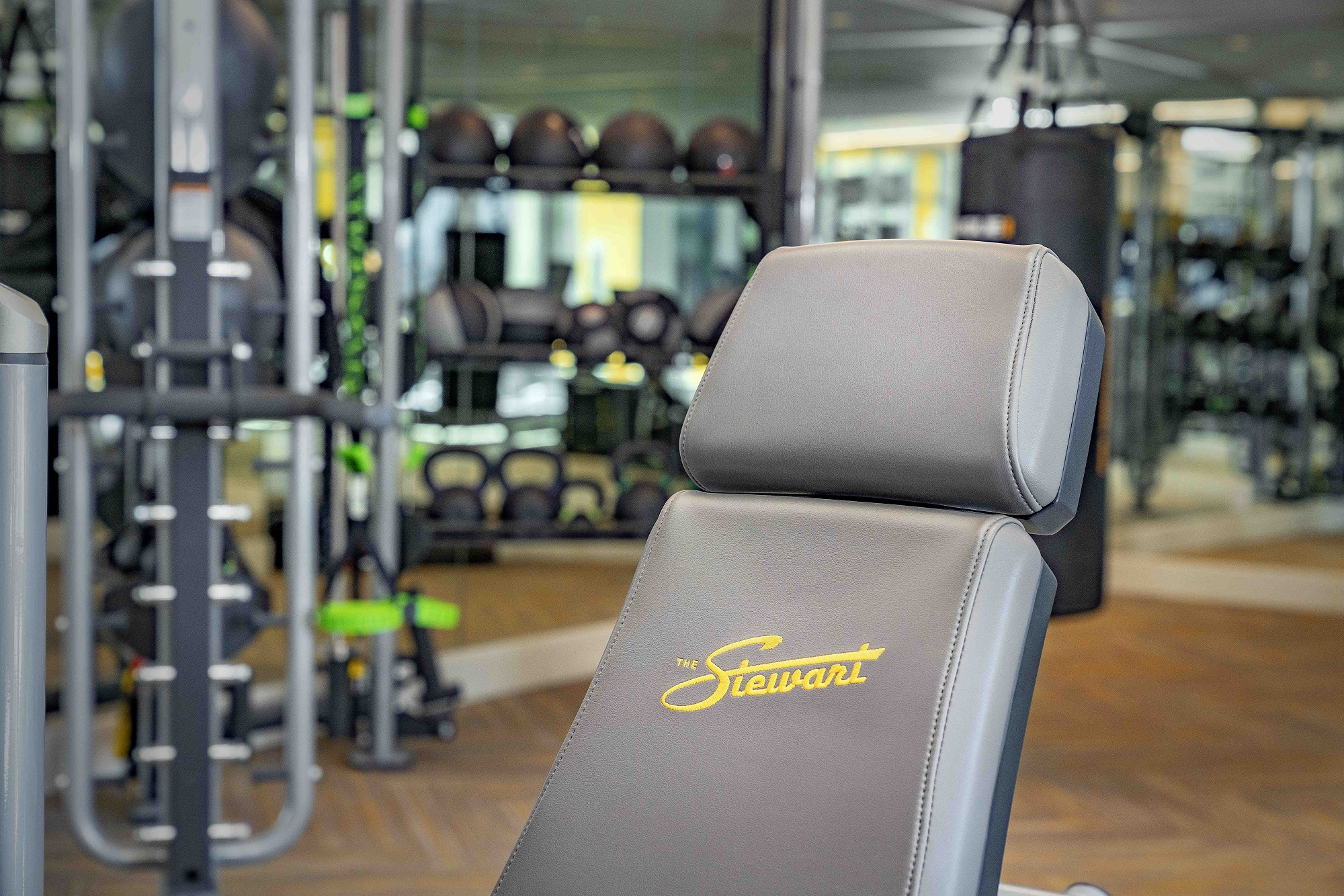 The Stewart fitness center with equipment